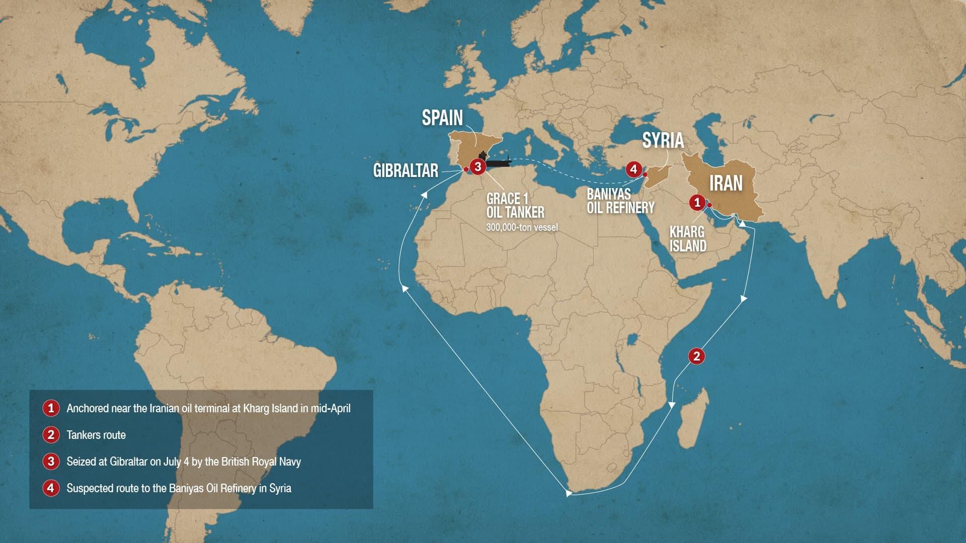 Grace 1 vessel route