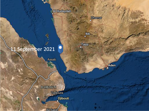Incident Alert - Houthi Forces attack Mocha Harbour with Missiles and Drones - Map1
