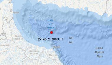 Incident Alert – Explosion- Gulf of Oman
