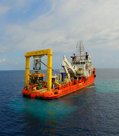 Cable Laying in the Gulf of Guinea, West Africa